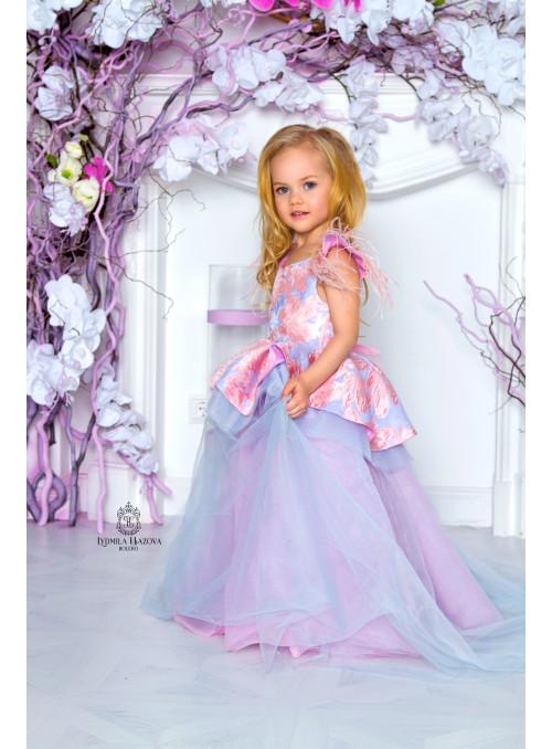 Эффектное платье с Жаккардовым лифом