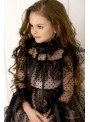 Платье «горошки» в чёрном цвете