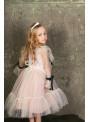 Платье «горошки» в сливочном цвете