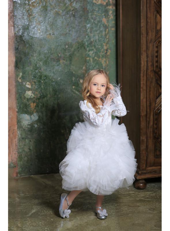 Платье «Белое облако» с короткой юбочкой